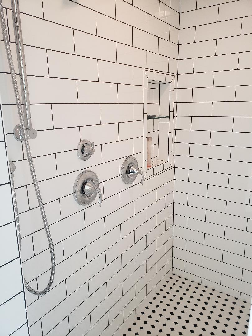tile shower master bathroom remodel tile contractor install home renovation